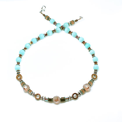 Cat Eye Turquoise Necklace