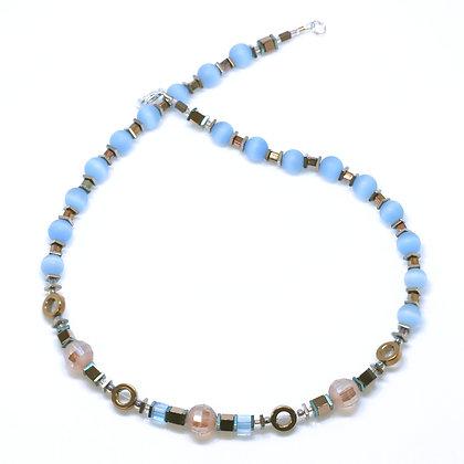 Cat Eye Blue Necklace