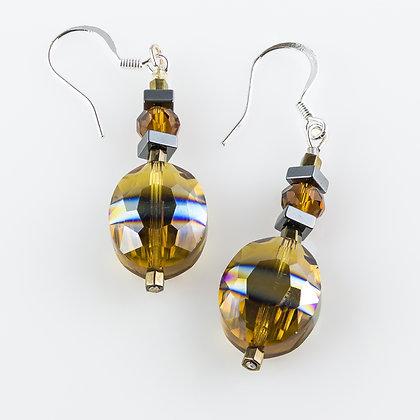 Elegant Amber Earrings