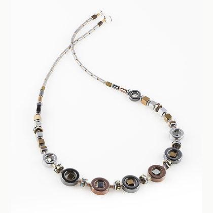 Metallic Hematite Necklace