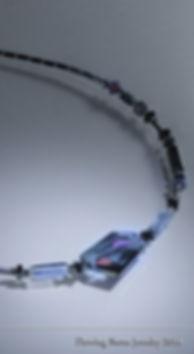 modern polymer clay pendant, modern pendat design