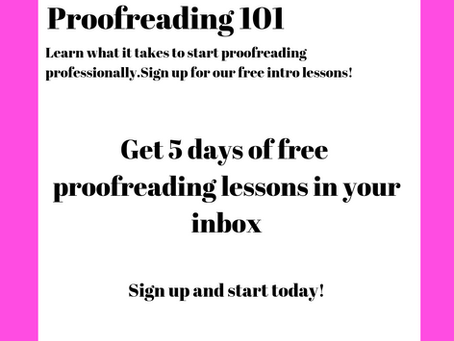The free course that led to creating my editorial business.