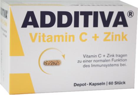 Additiva Vitamin C + zinek 60 tobolek