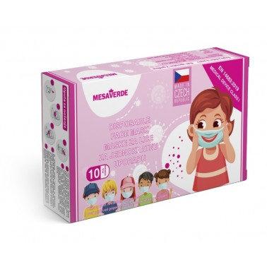 Dětská jednorázová rouška holka - 10 ks