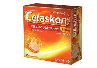 CELASKON 500 mg ČERVENÝ POMERANČ 30 šumivých tablet