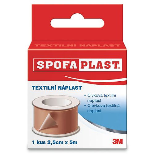 3M Spofaplast Náplast cívková textilní 2.5cmx5m