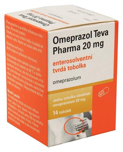 OMEPRAZOL TEVA PHARMA 20 mg enterosolventní tvrdé tobolky 14 ks