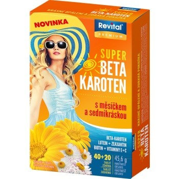 Revital Super Beta-karoten + měsíček+7kráska 40+20 tablet