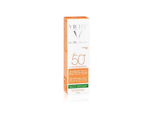 VICHY CAPITAL SOLEIL - Zmatňující ochranný krém 3v1 SPF 50+ 50ml