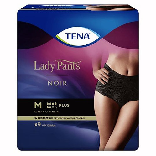 TENA Lady Pants Plus Noir vel. M - 9 ks