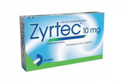 ZYRTEC 10mg 20 potahovaných tablet
