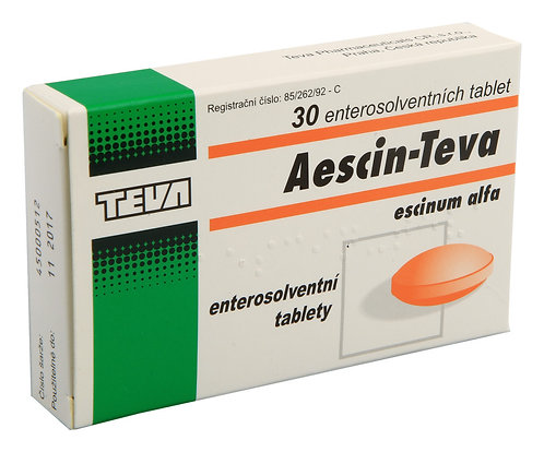 AESCIN TEVA 20mg 30 enterosolventních tablet