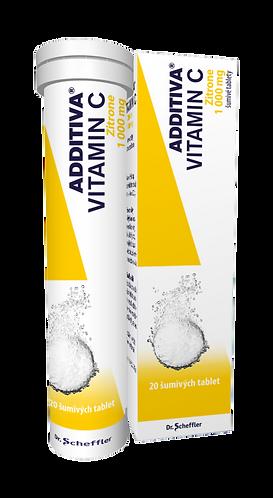 Additiva Vitamin C (1000 mg) ZITRONE 20 šumivých tablet