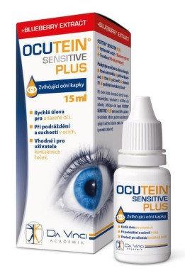 Ocutein SENSITIVE PLUS oční kapky 15 ml DaVinci