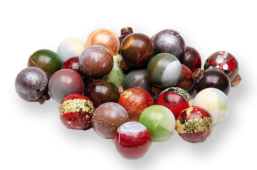 X-mas balls in chocolate