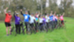 Participants on bikes for Pedal4Cancer
