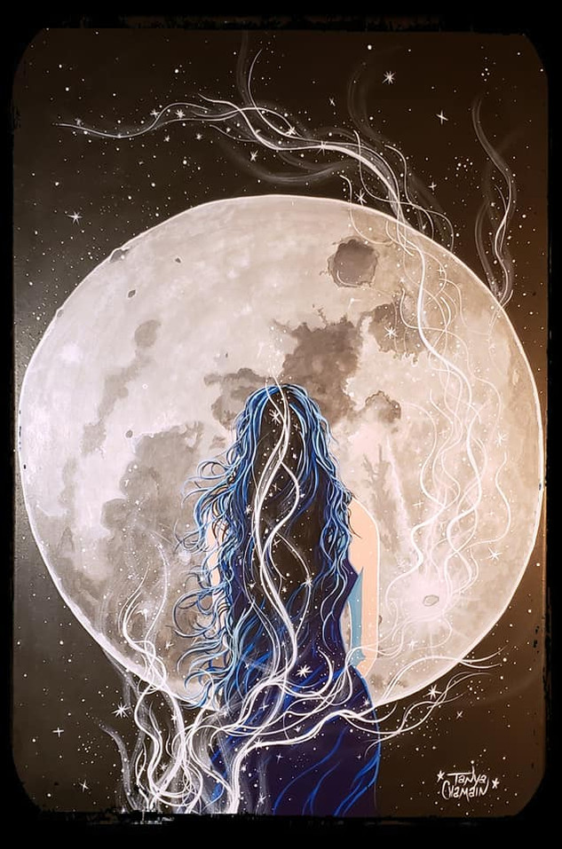 SOLD - I Am the Moon & the Stars