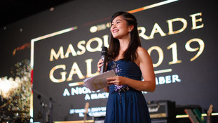 Vanessa as an MC for Masquerade Gala 2019