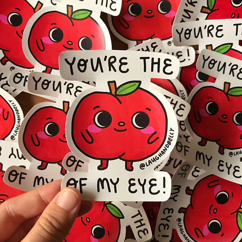 You're the apple of my eye sticker