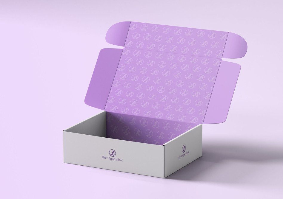 The Ogee Clinic Box Mock-Up