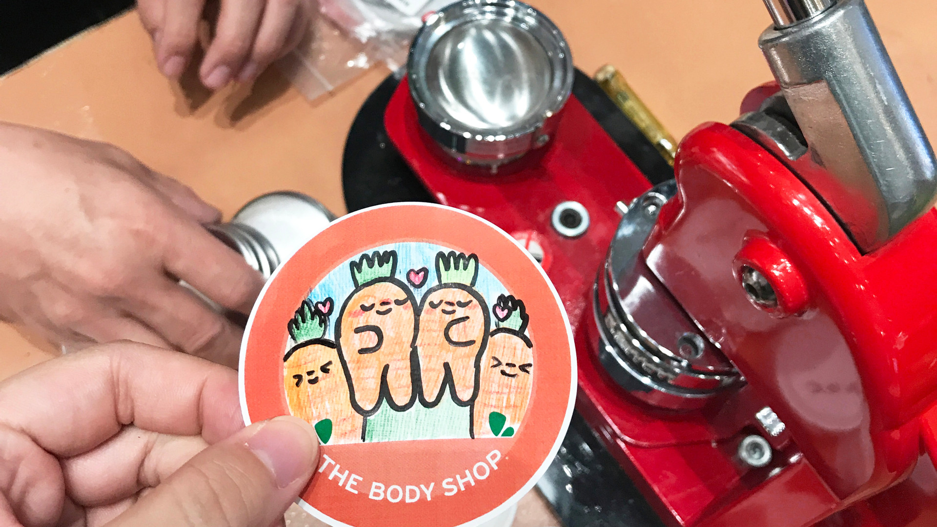 Hand-drawn Carrot Badge Artwork
