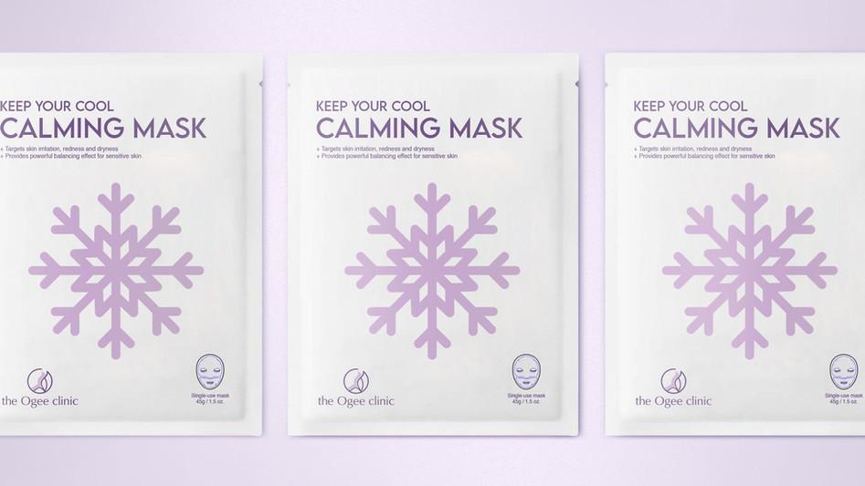 Three calming masks