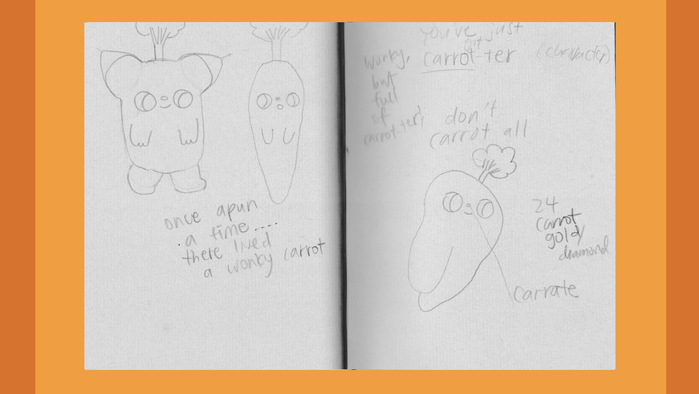 Character Design Sketches / Copywriting Notes / Ideas