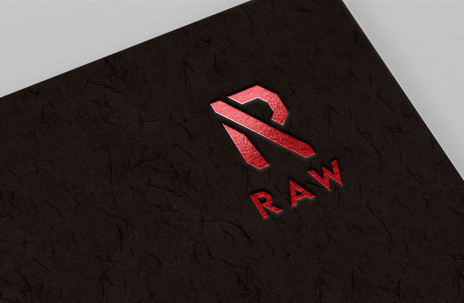 Raw logo mock up on paper