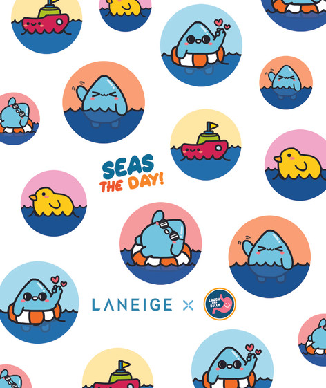 LANEIGE Seas The Day Luggage Design