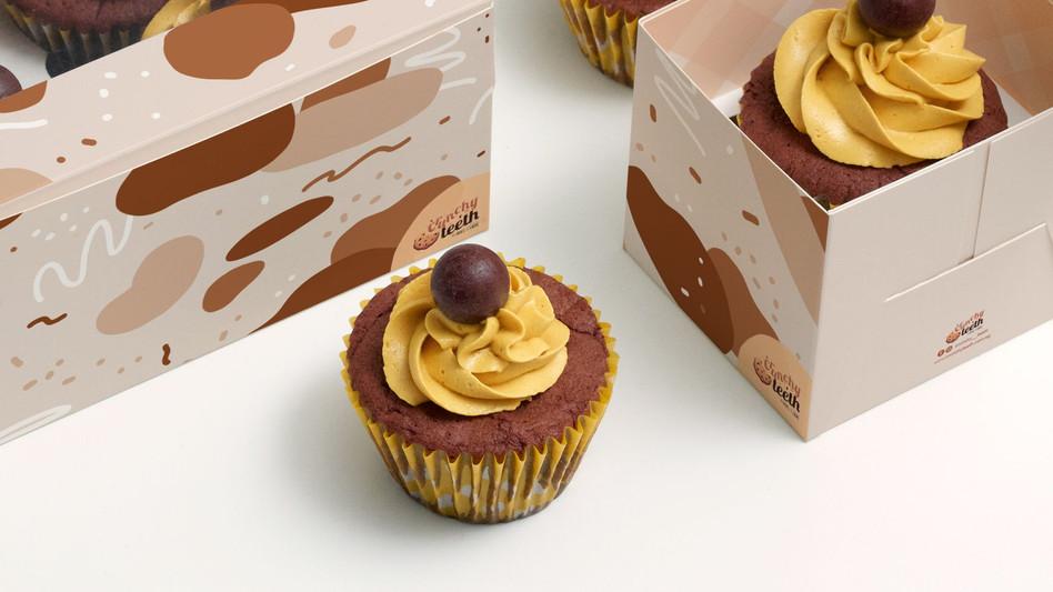 Crunchy Teeth's cupcake/muffin packaging