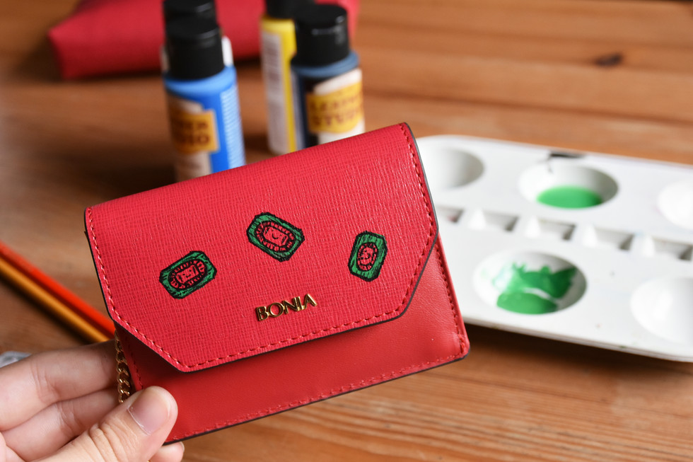 Finished painting and detailing the wallet's top cover