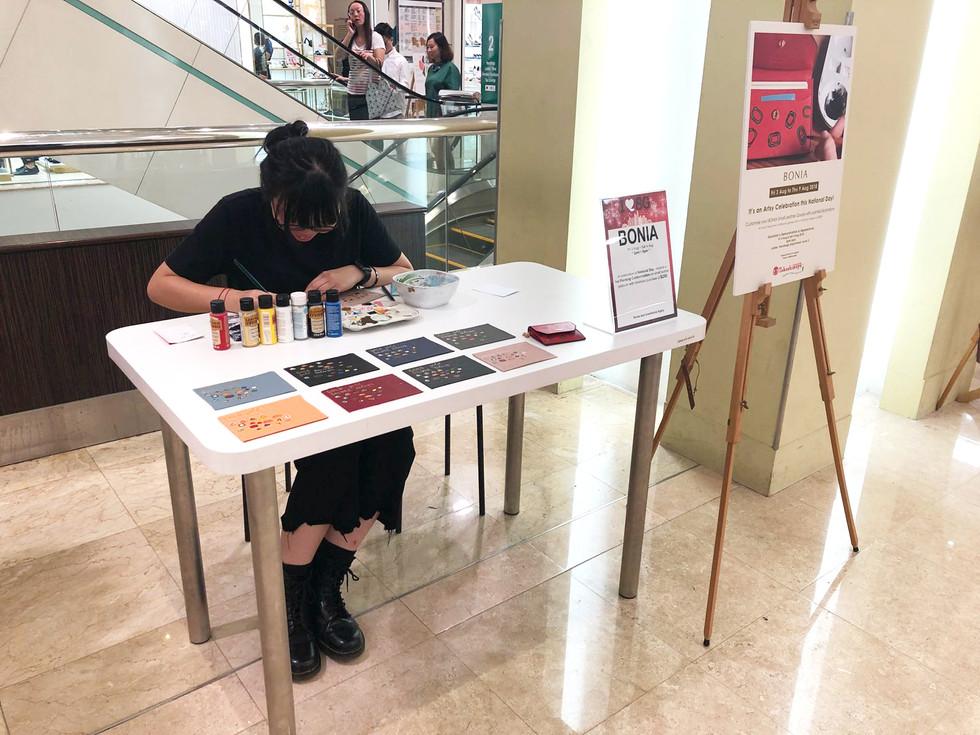 I was invited to draw live at BONIA Takashimaya for National Day 2018.