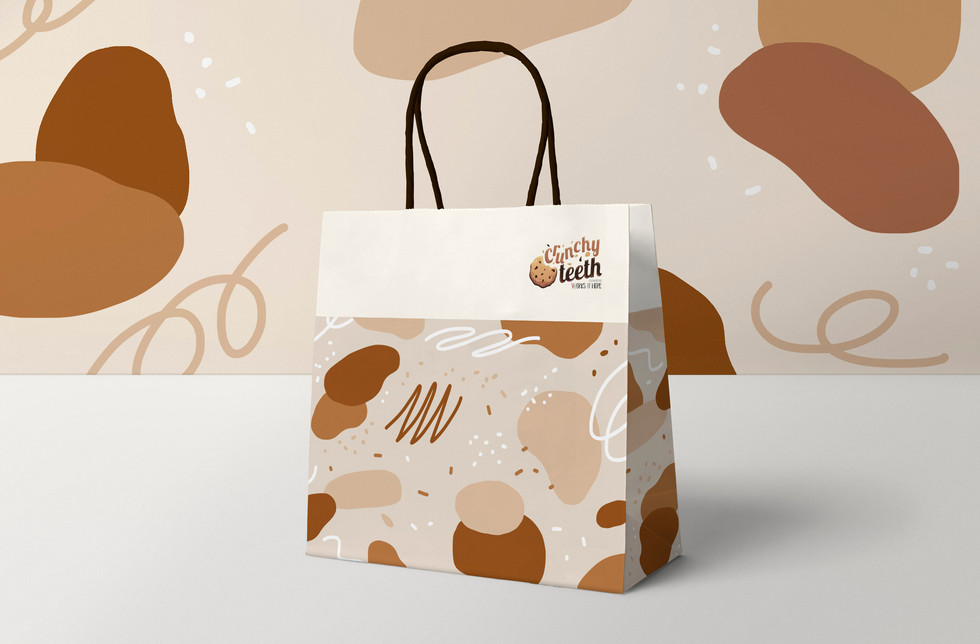 Crunchy Teeth's paper bag design