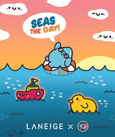LANEIGE Seas The Day Luggage Design Idea 2