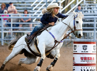 Ward Insulation Sponsors Barrel Racing at Cheyenne Frontier Days