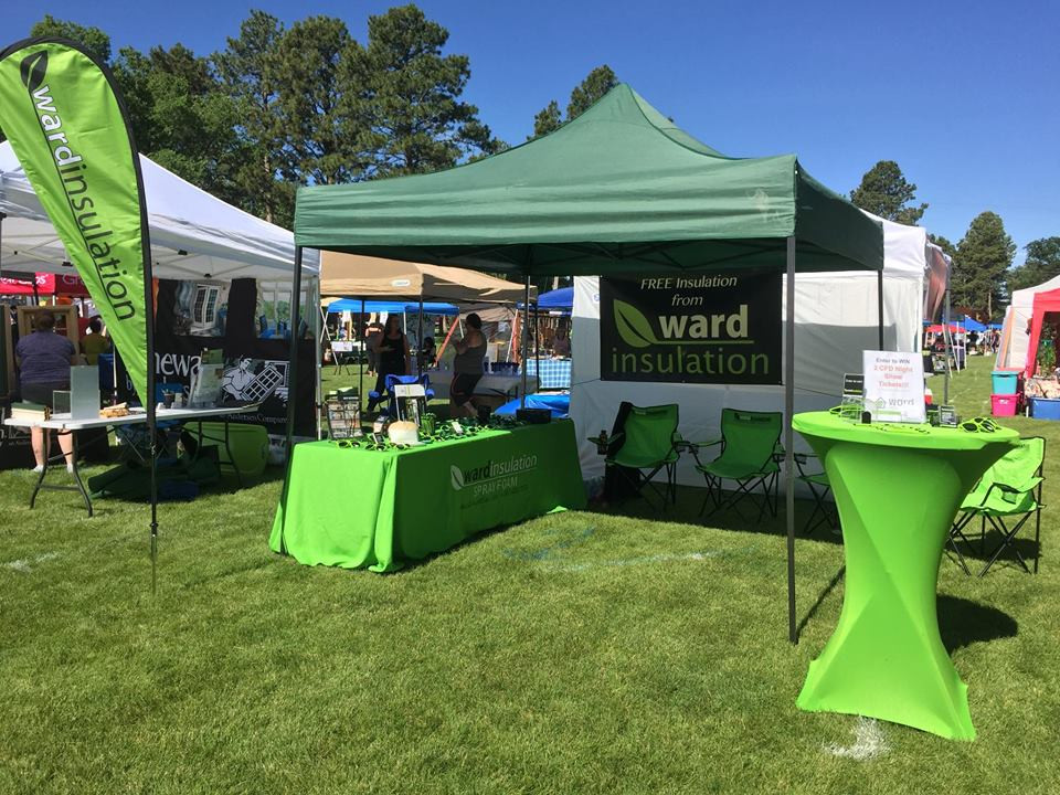 Ward Insulation tent at an event