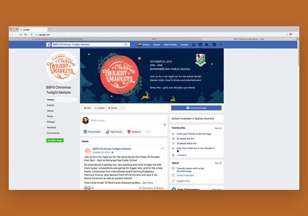 Burraneer Bay Public School Twilight Market Campaign