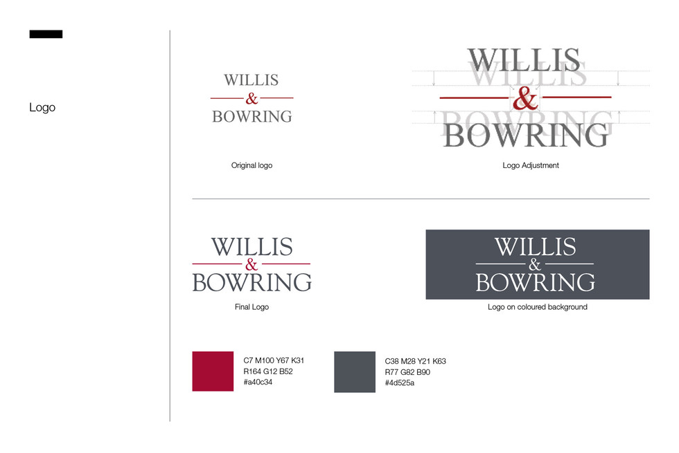 Wills & Bowring Branding (Refresh)