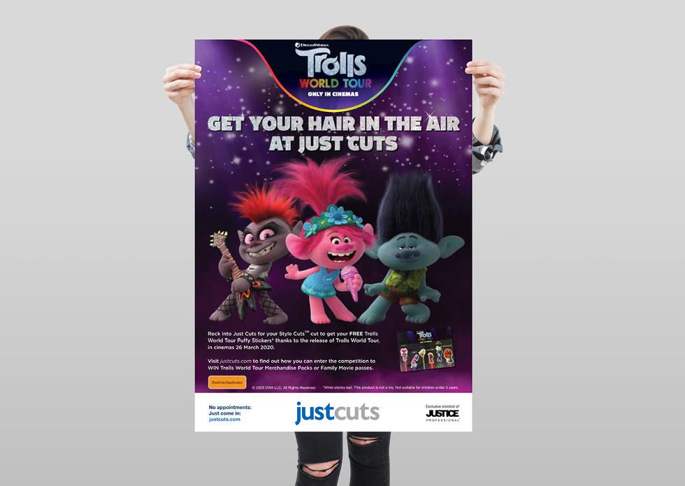 Just Cuts Trolls World Tour Campaign