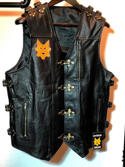 Men's Black Leather Vest (All Colors)