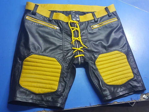 Ryder Gear Leather Football Shorts - Yellow (All Sizes)