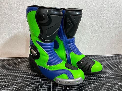 RX-5 Boots (Metallic Blue Fluoro Green) EU43 US10 UK9