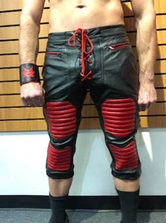 Ryder Gear Leather Football Pants - Red (All Sizes)