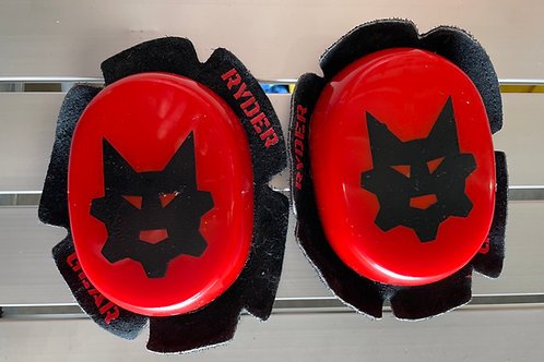 Ryder Gear Knee Pucks (Red Black)