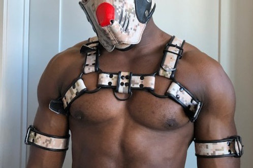 Ryder Gear Bulldog Harness - Regular (3.5 cm) CAMO Colors