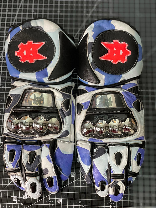 (Used) 2019/2020 Gauntlet Ryder Gear Gloves (Blue Camo-Medium)