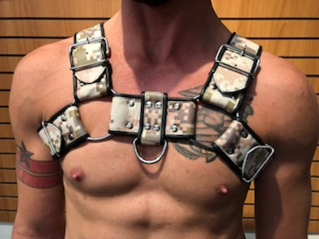 Ryder Gear Bulldog Harness - Wide (5 cm) (Any Color)