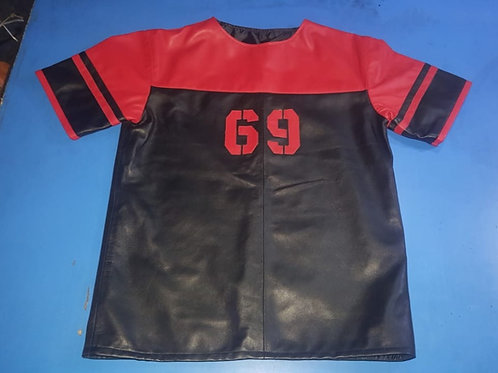 Ryder Gear Leather Football Jersey - Black and Red (All Sizes)