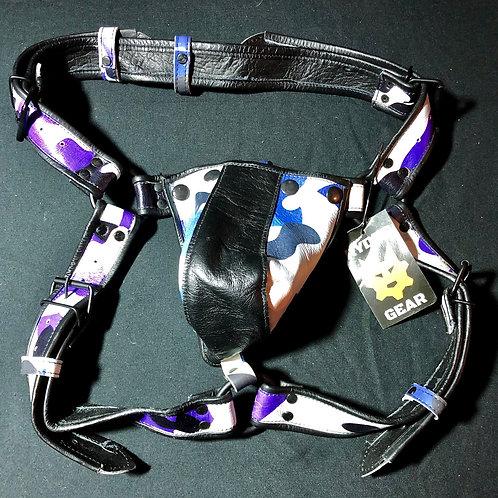 Leather Jock - Sailor Blue Camo (Sm/Md)