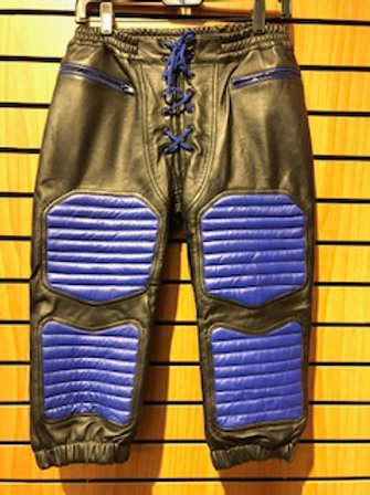 *Ryder Gear Leather Football Pants - Blue (L)